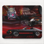Car Collage with red &black Mousepads
