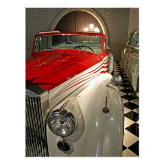 Car collection in The Liberace Foundation and Postcard