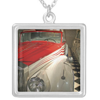 Car collection in The Liberace Foundation and Silver Plated Necklace
