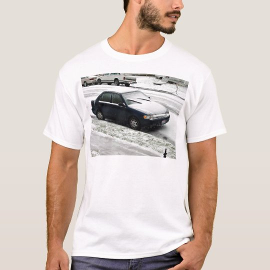 Car covered in snow T-Shirt