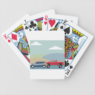 Car crash rear ended vehicle Vector Bicycle Playing Cards