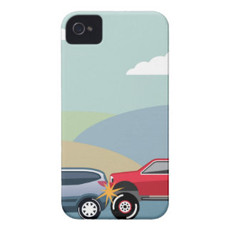 Car crash rear ended vehicle Vector iPhone 4 Case-Mate Case