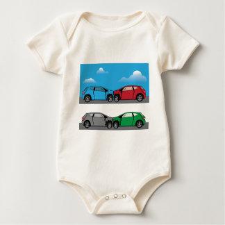 Car Crash vector Baby Bodysuit