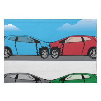 Car Crash vector Cloth Placemat