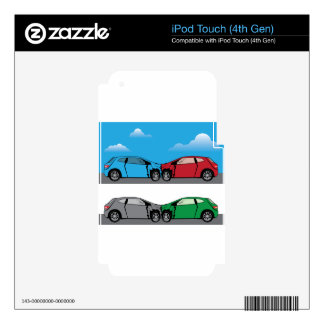 Car Crash vector Decal For iPod Touch 4G