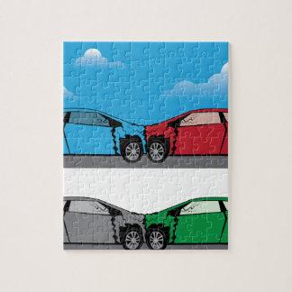 Car Crash vector Jigsaw Puzzle