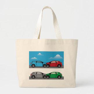 Car Crash vector Large Tote Bag