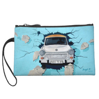 Car Crashing Through Wall Street Art Graffiti Bag