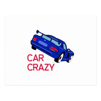Car Crazy Postcard