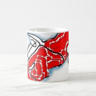 Car cup classic white coffee mug