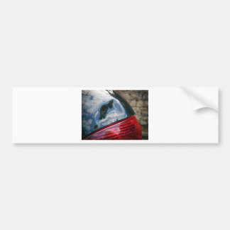 Car damage bumper sticker