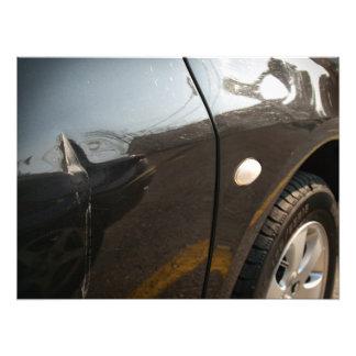 Car damage photograph