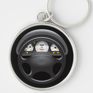 Car Dashboard & Steering Wheel Keychain