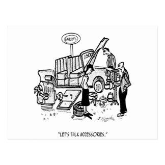 Car Dealer Cartoon 3162 Postcard