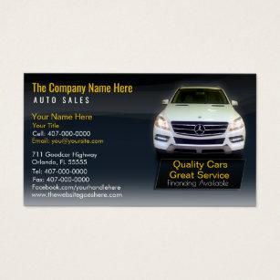 auto sales business cards