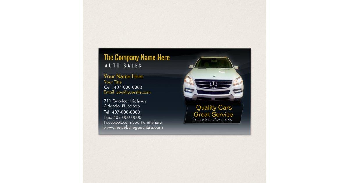 Car Sales Associate Business Cards & Templates | Zazzle