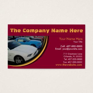 Car Dealership & Auto Sales Associate Business Card