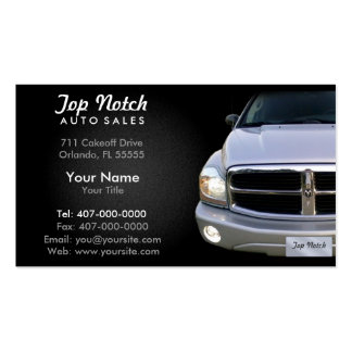 Car Dealership Auto Sales Double-Sided Standard Business Cards (Pack Of 100)