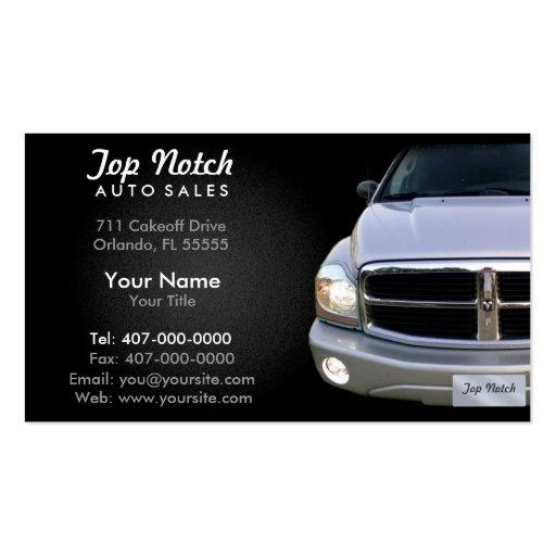 Car dealership auto sales business card template zazzle for Car sales business cards