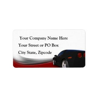 Car Detailer Labels