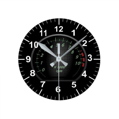 Car Dial Automotive Themed Round Clock
