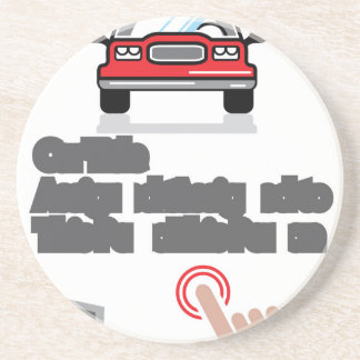 Car Document Click Sign Drink Coaster