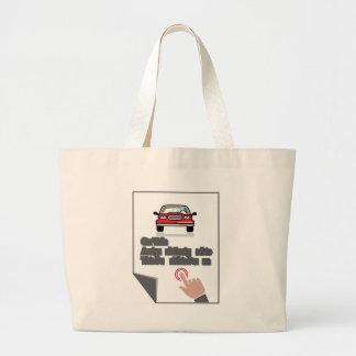 Car Document Click Sign Large Tote Bag