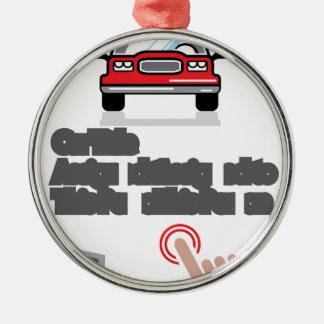 Car Document Click Sign Metal Ornament