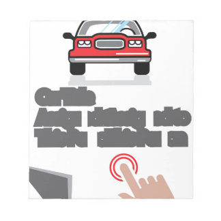 Car Document Click Sign Notepad