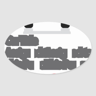 Car Document Click Sign Oval Sticker