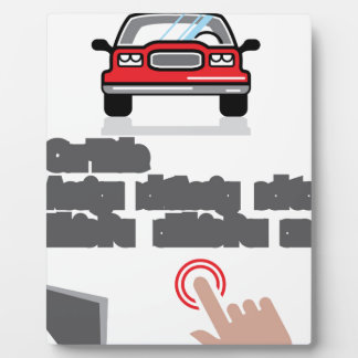 Car Document Click Sign Plaque