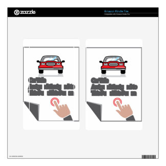Car Document Click Sign Skin For Kindle Fire