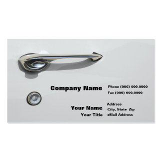 Car Door Handle Double-Sided Standard Business Cards (Pack Of 100)