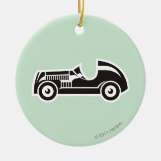 Car Double-Sided Ceramic Round Christmas Ornament