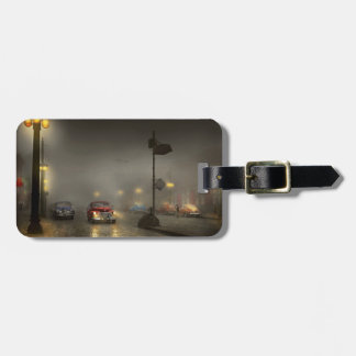 Car - Down a lonely road 1940 Luggage Tag