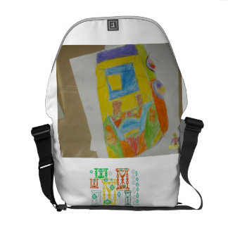 CAR DRAWING BY M Daniyal backpack Courier Bag