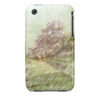 car drawing Case-Mate iPhone 3 cases