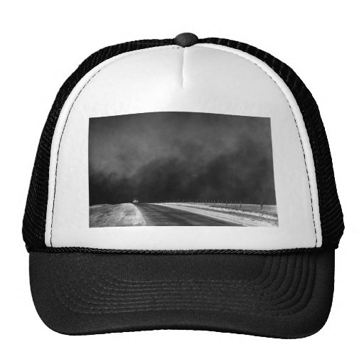 Car Driving The Texas Panhandle in the Dust Bowl Hats