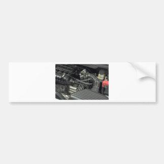 car engine detail bumper sticker