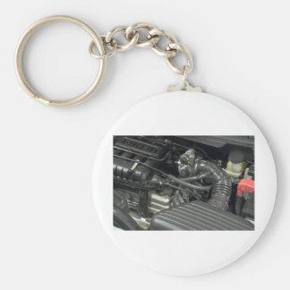 car engine detail keychain