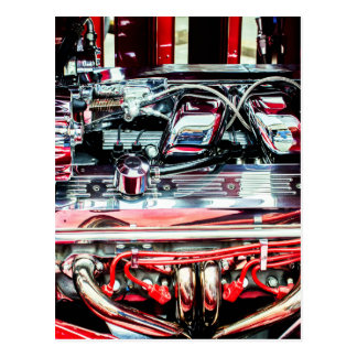 Car Engine Postcard