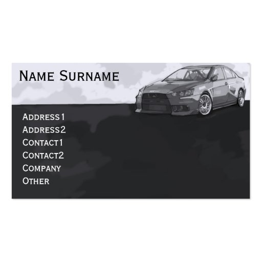 Car EVO Double-Sided Standard Business Cards (Pack Of 100)