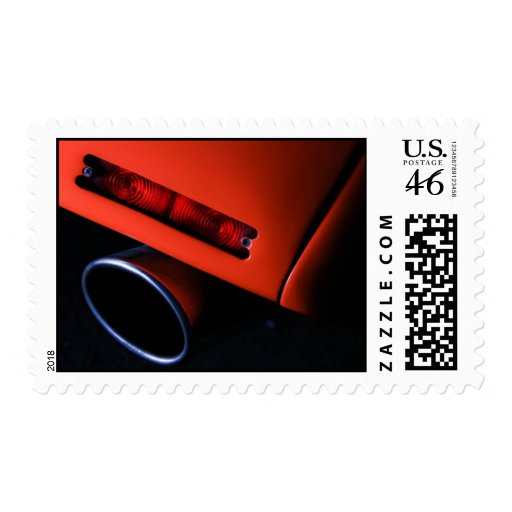 Car Exhaust Postage Stamp