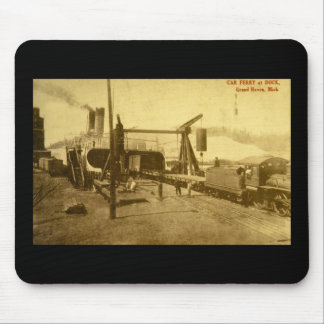 Car Ferry at Dock, Grand Haven, Michigan Mouse Pad