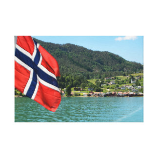 Car ferry in Norway canvas print