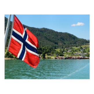 Car ferry in Norway postcard