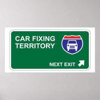 Car Fixing Next Exit Poster