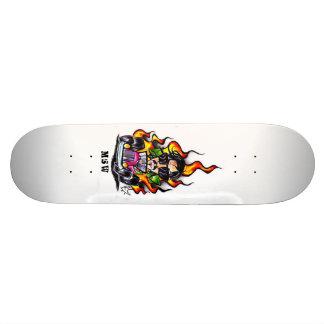Car Flame Shape Skateboard Deck
