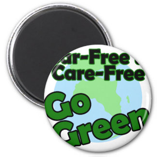 car free & care free 2 inch round magnet