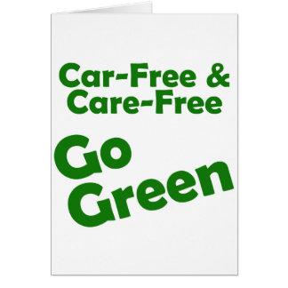 car free & care free - go green card